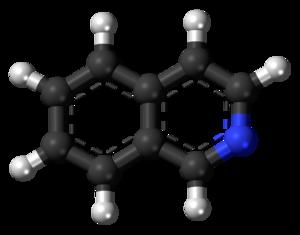Isoquinoline - Image: Isoquinoline 3D balls