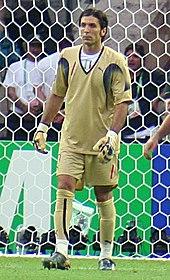 Buffon durante la finale del Mondiale 2006 contro la Francia