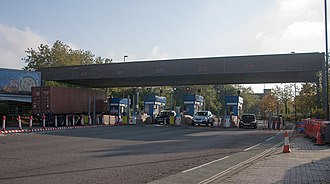 Itchen Bridge - Itchen Bridge toll booths