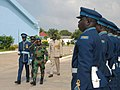 Ivory coast chief of defense staff Gen. Soumaila Bakayoko, in green uniform, inspects members of the Kofi Annan International Peacekeeping Training Center honor guard June 26, 2013, in Accra, Ghana, as part of 130626-A-ZZ999-022.jpg