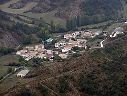 Vista d'Izal, part del municipi de Gallués