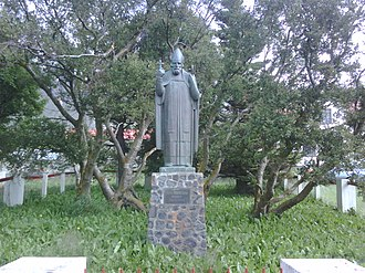 Jón Arason - Statue of Jón Arason, by Guðmundur Einarsson, in Munkaþverá