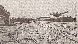 Fukuchiyama Line - Sanda station with Arima branch on left