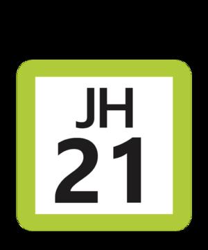 Nagatsuta Station - Image: JR JH 21 station number
