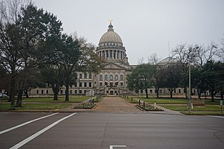 Mississippi State Capitol Government building in Jackson, Mississippi, USA