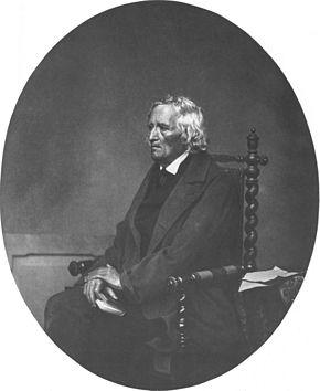Jacob Grimm um 1860 (Fotografie von Franz Seraph Hanfstaengl) (Quelle: Wikimedia)