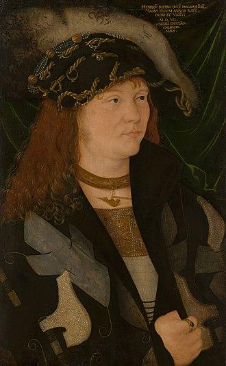 Henry V, Duke of Mecklenburg -  Portrait of Henry V, attributed to Jacopo de' Barbari