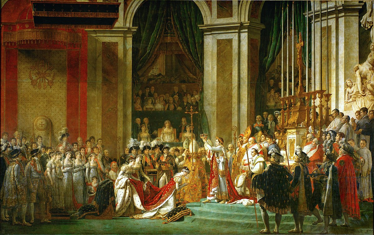 Resultado de imagem para sacrement de napoleon La Belle Notre Dame 1200px Jacques Louis David The Coronation of Napoleon 281805 1807 29 notre dame Notre Dame: the Story of the Lady of Paris 1200px Jacques Louis David   The Coronation of Napoleon  281805 1807 29