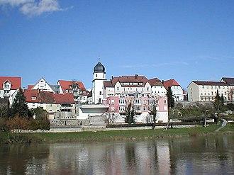 Bad Friedrichshall - view of Jagstfeld from the Neckar