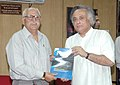 "Jairam Ramesh releasing the working paper series - Discussion Paper-I on ""Himalayan Glaciers A State-of-Art Review of Glacier Studies, Glacier Retreat and Climate Change"", in New Delhi on November 09, 2009.jpg"