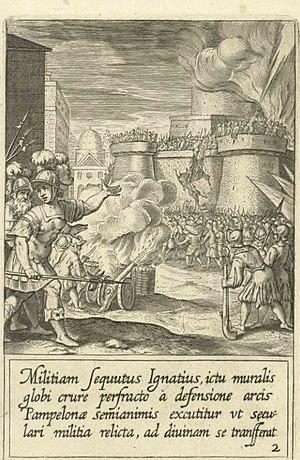 Jean-Baptiste Barbé - Saint Ignatius while a soldier