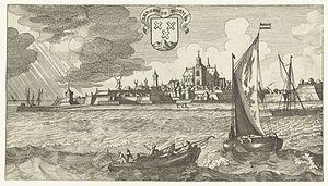 Gaspar Bouttats - View of Bergen op Zoom, after a drawing by Jan Peeters
