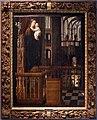 Jan provost, madonna col bambino su un piedistallo nella navata di una chiesa gotica, 01.jpg