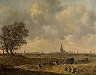 Jan van Goyen - Landscape with Carriages near a Town.jpg
