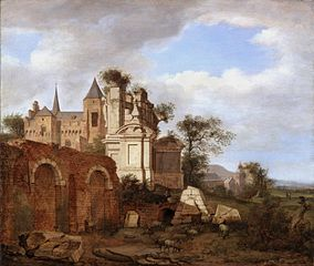 Ideal Landscape with a Romanesque Church