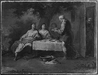 Abraham bewirtet die drei Engel
