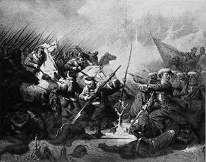 Battle of Grochowiska - Zouaves of Death in a skrimish.