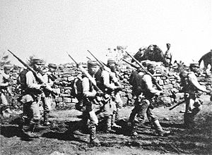 Japanese soldiers near Chemulpo Korea August September 1904 Russo Japanese War.jpg
