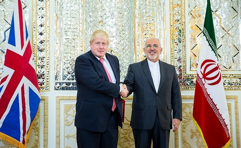 Javad Zarif meeting with UK foreign minister Boris Johnson in Tehran 2017-12-09 02