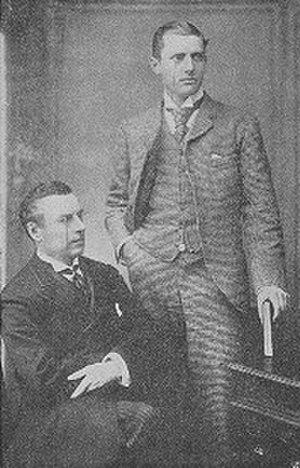 Neville Chamberlain - Joseph Chamberlain (seated) and Austen Chamberlain, 1892