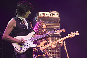 Jeff Beck - Beck with Tal Wilkenfeld on the 2007 Crossroads Guitar Festival tour