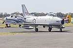 Jeff Trappett (VH-SBR, former military registration A94-352) CAC Sabre Mk.32 on the tarmac during the 2015 Warbirds Downunder Airshow at Temora (2).jpg