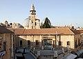 Jerusalem-Altstadt-42-von Dachterrasse-Minarett der Omarmoschee-Grabeskirche-2010-gje.jpg