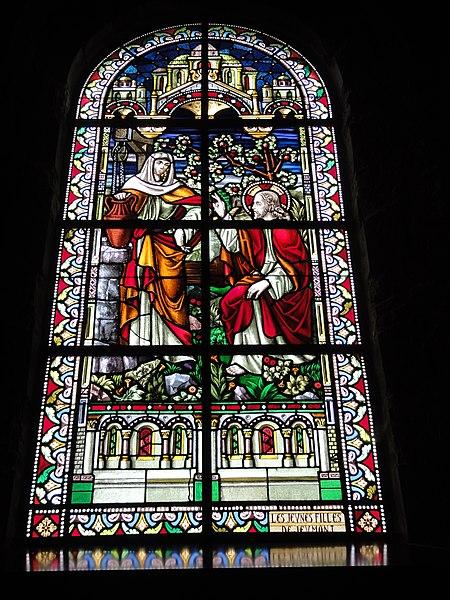 Jeumont (Nord, Fr) église St.Martin, vitrail 03 La samaritaine