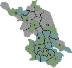 Huai'an District is located in Jiangsu