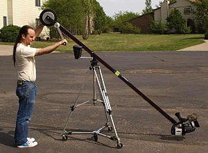 Jib (camera) - Image: Jib down