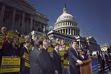 Congressman Jim Ramstad on the steps of the U.S. Capitol