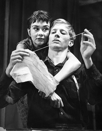 St Lawrence Academy, Scunthorpe - A Taste of Honey performed on stage by Joan Plowright, with Andrew Ray, in 1960