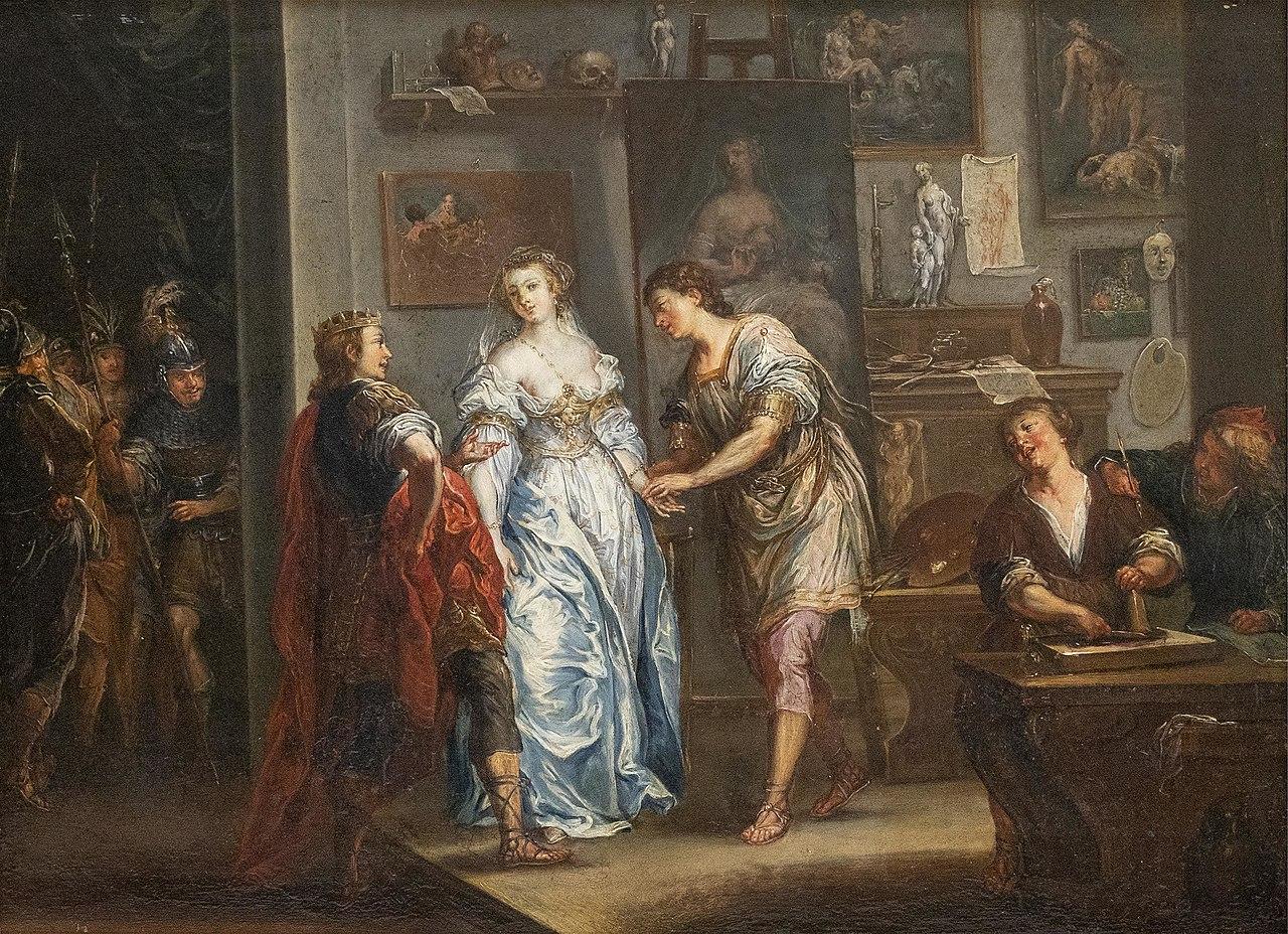 Johann Georg Platzer Alexander überlässt Kampaspe dem Maler Apelles.jpg