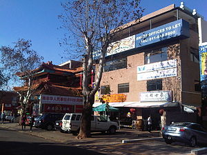 Chinatowns in Africa - A street scene of the Chinatown in Cyrildene, Johannesburg.