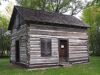 National Register of Historic Places listings in Clay County, Minnesota - Image: John Bergquist Cabin