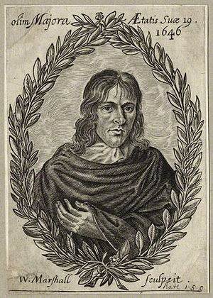 John Hall (poet) - John Hall, 1646 engraving by William Marshall from Horæ Vacivæ.