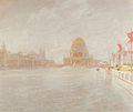 约翰·亨利·Twachtman  - 法院的荣誉,世界的哥伦比亚博览会,芝加哥(1893年)。JPG