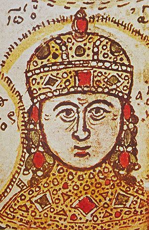 John IV Laskaris - Portrait of John IV from a 15th-century manuscript