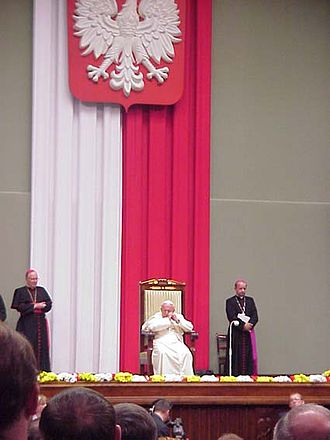 108 Martyrs of World War II - John Paul II during his return visits to Poland in June 1999, Warsaw