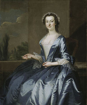 John Wollaston (painter) - Portrait of a Woman, 1749/52, oil on canvas, in the Art Institute of Chicago