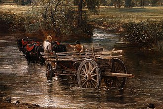 A detail of The Hay Wain by John Constable John constable, il carro di fieno, 1821, 04.jpg