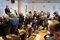 Jorn Lund direktor for det danska sprak och litteratursallskapet talar vid lanseringen av Nordisk litteratur til tjeneste pa Sorte diamant i Kopenhamn 2008-03-05 (1).jpg