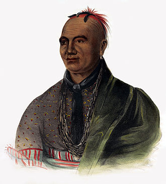 Siege of Fort Stanwix - 19th century illustration of Joseph Brant