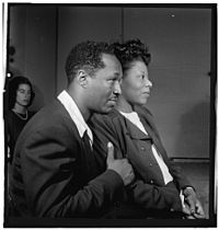 Josh White and Mary Lou Williams, ca October 1947 (Gottlieb 09191).jpg