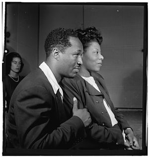 Josh White - White and Mary Lou Williams, ca. October 1947 (photograph by William P. Gottlieb)