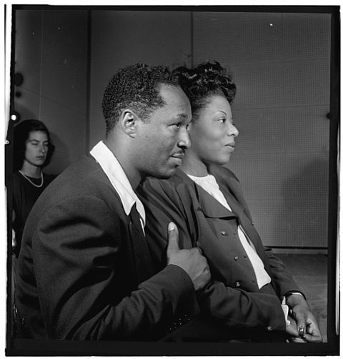 White and Mary Lou Williams, ca. October 1947 (photograph by William P. Gottlieb) Josh White and Mary Lou Williams, ca October 1947 (Gottlieb 09191).jpg