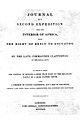 Journal of a second Expedition into the interior of Africa. Wellcome L0000745EB.jpg
