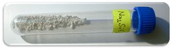 Sample of sodium silicate in a vial