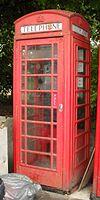 K6 Telephone Kiosk (plej norda de du) en New Road, Brajtono (IoE Code 479591).jpg