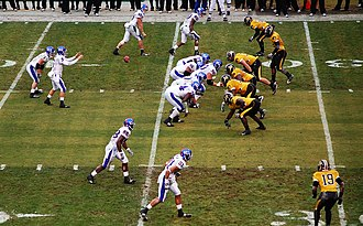 Border War (Kansas–Missouri rivalry) - Kansas Jayhawks vs. Missouri Tigers at Arrowhead Stadium on November 29, 2008.
